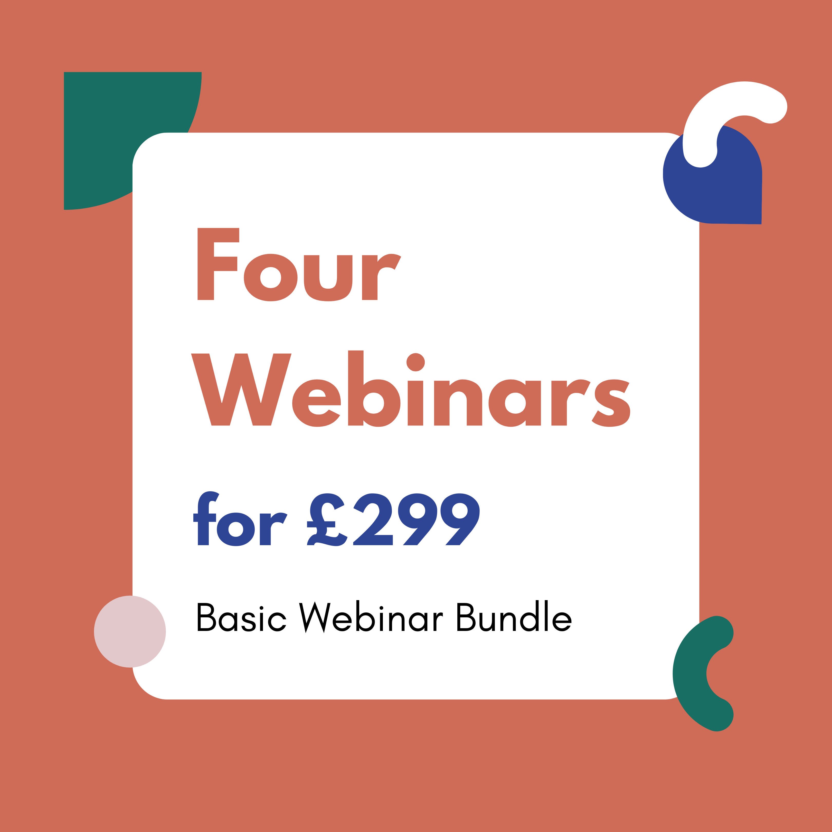 Discounted Webinar Bundle of all Four Courses